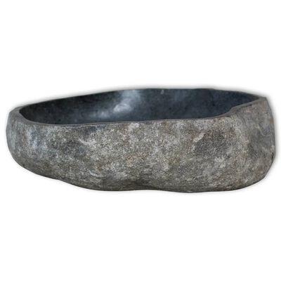 vidaXL Umivaonik od riječnog kamena ovalni 46 - 52 cm