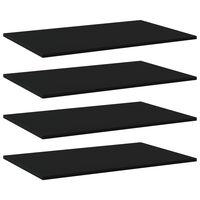 vidaXL Police za knjige 4 kom crne 80 x 50 x 1,5 cm od iverice