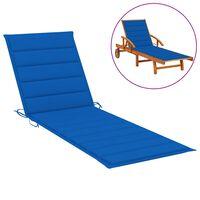 vidaXL Jastuk za ležaljku kraljevski plavi 200 x 50 x 4 cm od tkanine