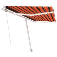 vidaXL Tenda na ručno uvlačenje LED 400 x 300 cm narančasto-smeđa