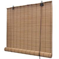Rolo zavjesa od bambusa smeđa boja 120 x 220 cm