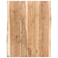 vidaXL Stolna ploča od masivnog bagremovog drva 80 x (50-60) x 3,8 cm