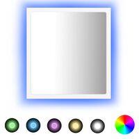 vidaXL LED kupaonsko ogledalo bijelo 40 x 8,5 x 37 cm od iverice