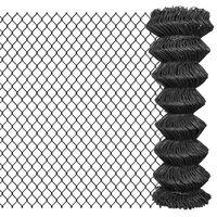 vidaXL Žičana ograda 15 x 1,25 m čelična siva