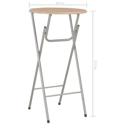 vidaXL Barski stolovi 4 kom boja hrasta 60 x 112 cm MDF