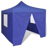 vidaXL Plavi sklopivi šator 3 x 3 m s 4 zida