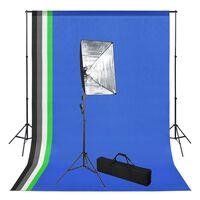 vidaXL Oprema za fotografski studio s pozadinama i svjetlima softbox