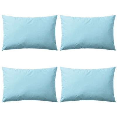 vidaXL Vrtni jastuci 4 kom 60 x 40 cm svjetloplavi