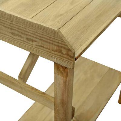 vidaXL Vrtni stolić za sadnju od impregnirane borovine 75 x 40 x 90 cm