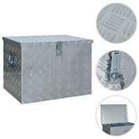 vidaXL Aluminijska kutija 610 x 430 x 455 mm srebrna