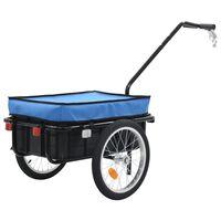 vidaXL Prikolica za bicikl / ručna kolica 155 x 61 x 83 cm čelična plava