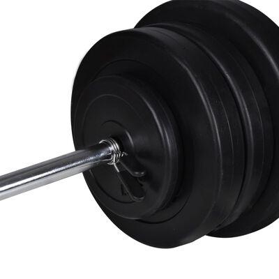 Dvoručni uteg i 2 cijevi za utege od 60,5kg