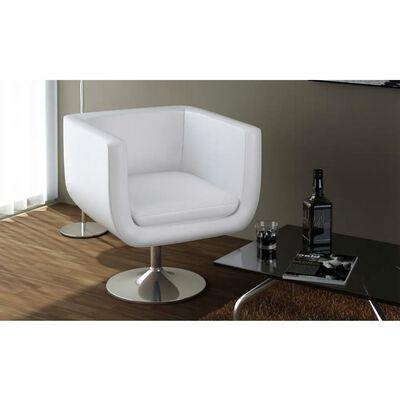 vidaXL Barske stolice od umjetne kože 2 kom bijele
