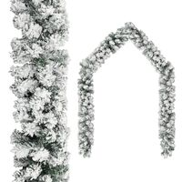 vidaXL Božićna girlanda sa snijegom zelena 20 m PVC
