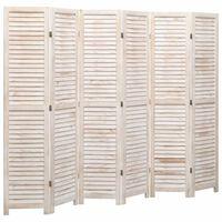 vidaXL Sobna pregrada sa 6 panela bijela 210 x 165 cm drvena