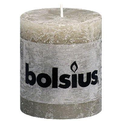 Bolsius Rustikalne stupne svijeće 80 x 68 mm 6 kom