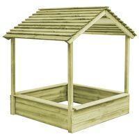 vidaXL Vrtna kućica za igru s pješčanikom 128 x 120 x 145 cm borovina