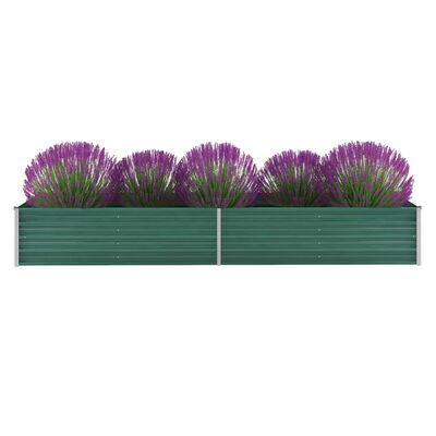 vidaXL Vrtna sadilica od pocinčanog čelika 320 x 80 x 45 cm zelena