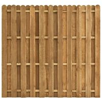 vidaXL Panel za ogradu od borovine 180 x 170 cm