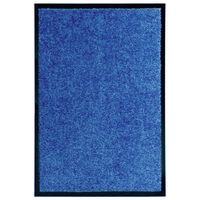 vidaXL Otirač perivi plavi 40 x 60 cm