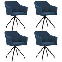 vidaXL Blagovaonske stolice od tkanine okretne 4 kom plave