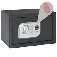 vidaXL Digitalni sef s otiskom prsta tamnosivi 31 x 20 x 20 cm
