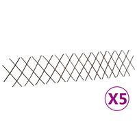 vidaXL Rešetkaste ograde od vrbe 5 kom 180 x 30 cm