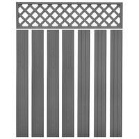 vidaXL Zamjenske ploče za ogradu WPC 7 kom 170 cm sive