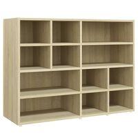 vidaXL Side Cabinet Sonoma Oak 97x32x72 cm Chipboard