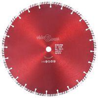 vidaXL Dijamantni disk za rezanje s turbo segmentima čelični 350 mm