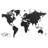 MiMi Innovations ukrasna zidna karta svijeta Luxury crna 150 x 90 cm