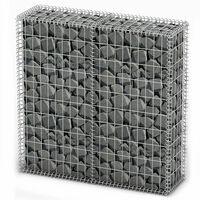 vidaXL Gabionska košara s poklopcima od pocinčane žice 100 x 100 x 30 cm
