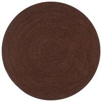 vidaXL Ručno rađeni tepih od jute okrugli 90 cm smeđi