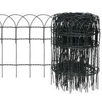 vidaXL Ograda za gredice željezna 10x0,4 m