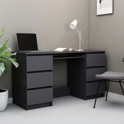 vidaXL Pisaći stol sivi 140 x 50 x 77 cm od iverice