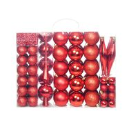 vidaXL Set božićnih kuglica 113 komada 6 cm crveni