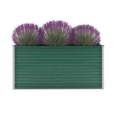 vidaXL Vrtna sadilica od pocinčanog čelika 160 x 40 x 77 cm zelena