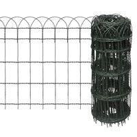 vidaXL Ograda za gredice željezna 25x0,65 m