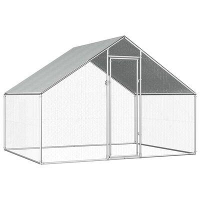 vidaXL Vanjski kavez za kokoši od pocinčanog čelika 2,75 x 2 x 1,92 m