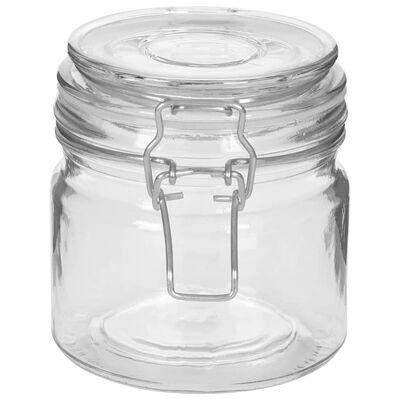 vidaXL Staklenke za pohranu s kopčama 6 kom 500 ml