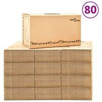 vidaXL Kutije za selidbu kartonske XXL 80 kom 60 x 33 x 34 cm