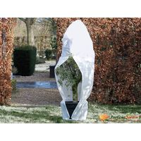 Nature zimski pokrov od flisa s patentom 70 g/m² bijeli 1,5x1,5x2 m