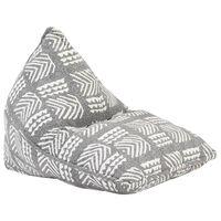 vidaXL Vreća za sjedenje od tkanine siva s patchworkom