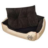 Topli krevet za pse s podstavljenim jastukom L [nid:2847009]