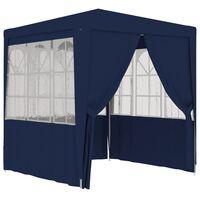 vidaXL Profesionalni šator za zabave 2 x 2 m plavi 90 g/m²