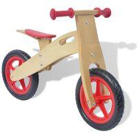 vidaXL Bicikl za vježbanje Drveni Crveni