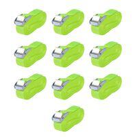 vidaXL Trake za Vezanje Tereta 10 kom 0,25 Tona 5mx25mm Flourescentno Zelene