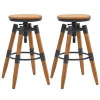 vidaXL Barske stolice 2 kom od masivne jelovine