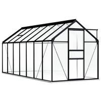 vidaXL Staklenik s okvirom antracit aluminijski 8,17 m²