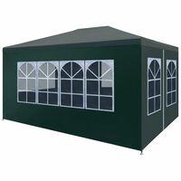 vidaXL Šator za zabave 3 x 4 m zeleni